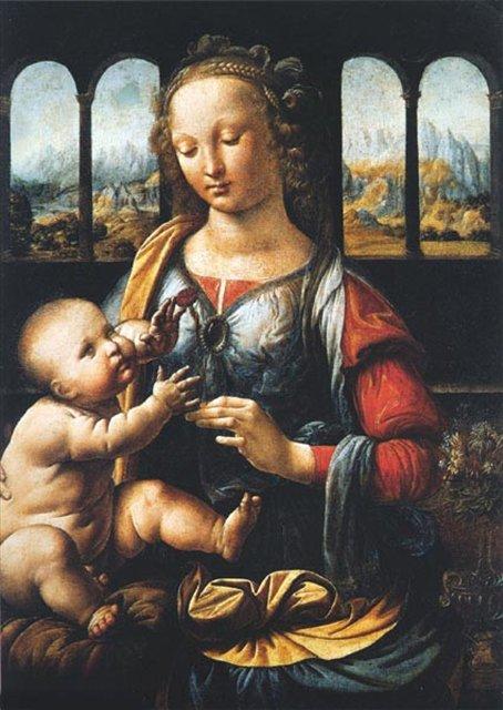 Мадонна с гвоздикой :: Леонардо да Винчи - да Винчи, Леонардо фото