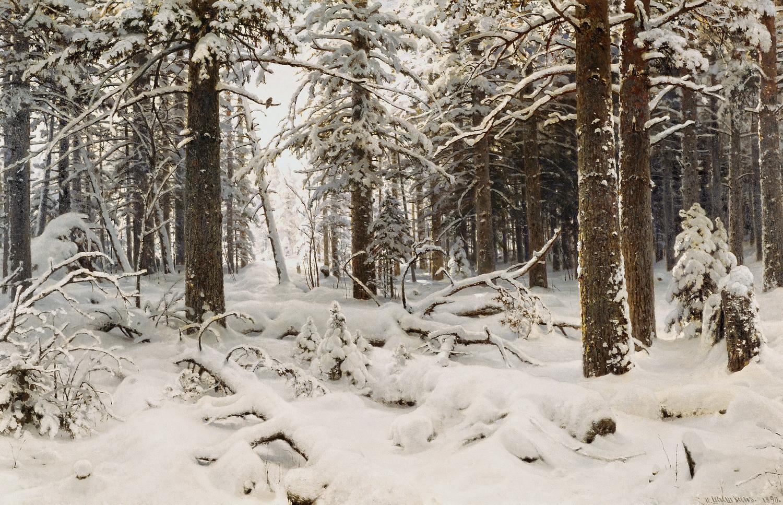 картина Зима :: Шишкин И.И., описание картины - Ivan Shishkin фото