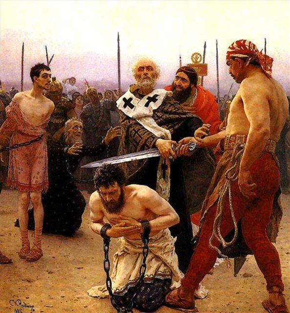 картина Николай Мирликийский избавляет от смертной казни трех невинно осужденных :: Илья Репин - Репин Илья ( Ilya Yefimovich Repin ) фото