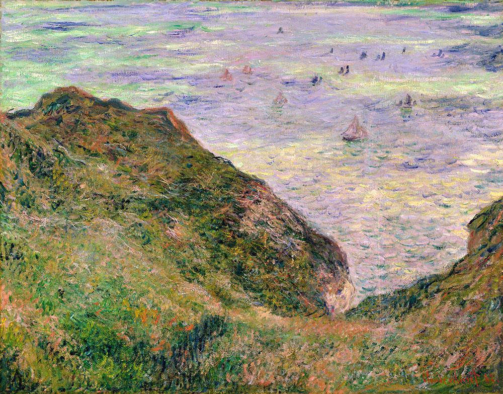 """пейзаж """"Вид на море"""" :: Клод Моне (1840-1926) (Франция ), описание картины - Море в живописи ( морские пейзажи, seascapes ) фото"""