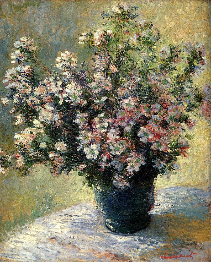картина Ваза с цветами :: Клод Моне - Натюрморт, цветы ( new ) фото