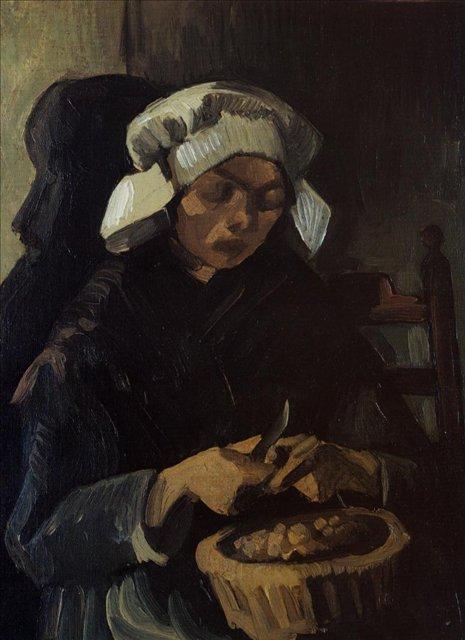 Крестьянка очищающая картофель :: Ван Гог, описание картины - Van Gogh фото