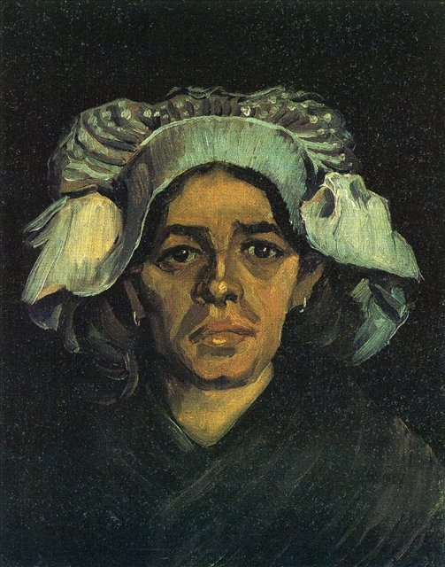 Крестьянка, портрет Гордины де Грут [ картина - живопись постимпрессионизм ] :: Ван Гог, описание картины - Van Gogh фото