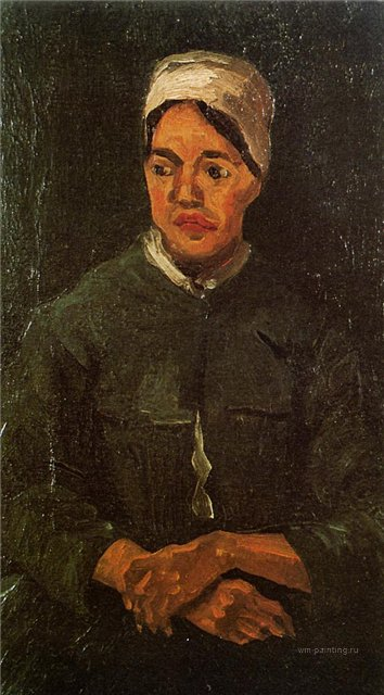 Сидящая крестьянка [ картина - живопись постимпрессионизм ] :: Ван Гог, описание картины - Van Gogh фото