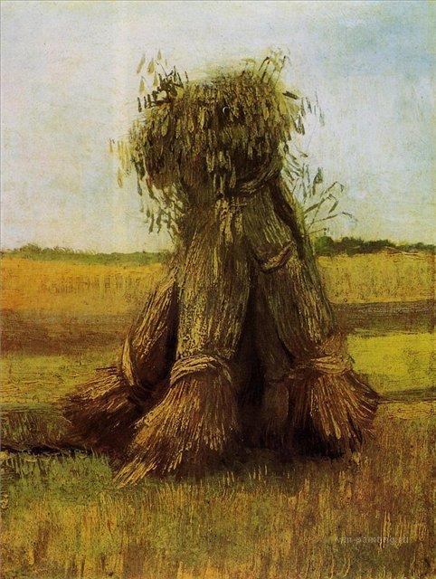 Вязанки пшеницы на поле [ картина - живопись постимпрессионизм ] :: Ван Гог, описание картины - Van Gogh (Ван Гог) фото
