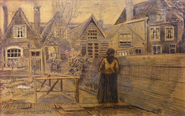 Дом матери Сиены, вид с заднего двора [ картина - живопись постимпрессионизм ] :: Ван Гог, описание картины - Van Gogh фото
