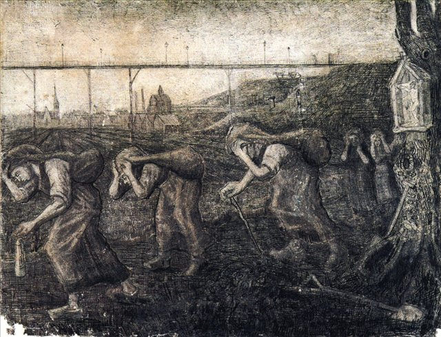 Носильщики [ картина - живопись постимпрессионизм ] :: Ван Гог, описание картины - Van Gogh фото