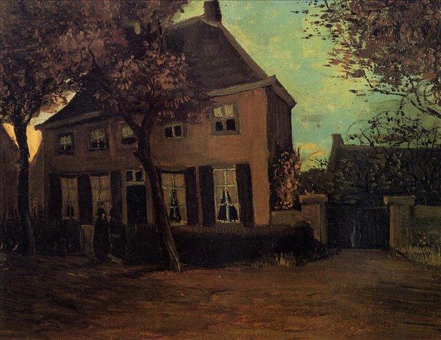 Приходской дом в Нуенене[ картина - живопись постимпрессионизм ] :: Ван Гог, описание картины - Van Gogh фото