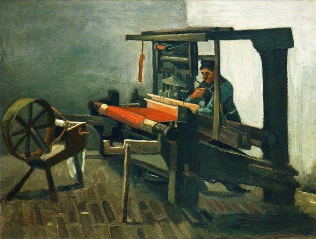 Ткач [ картина - живопись постимпрессионизм ] :: Ван Гог, описание картины - Van Gogh (Ван Гог) фото