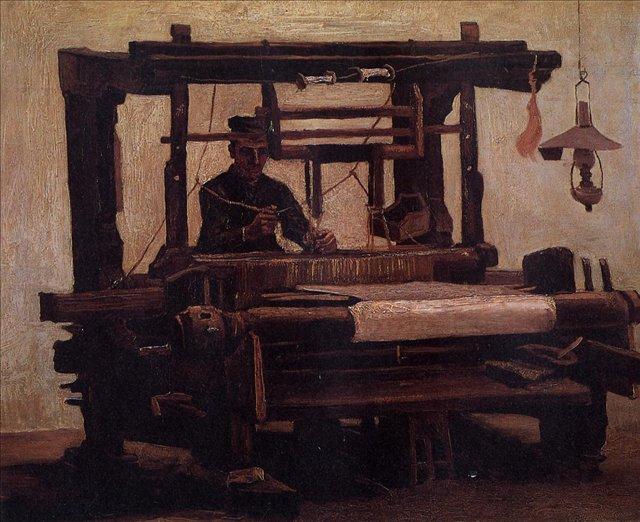 Ткач, вид спереди [ картина - живопись постимпрессионизм ] :: Ван Гог, описание картины - Van Gogh фото