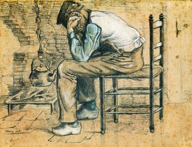Уставший [ картина - живопись постимпрессионизм ] :: Ван Гог, описание картины - Van Gogh (Ван Гог) фото