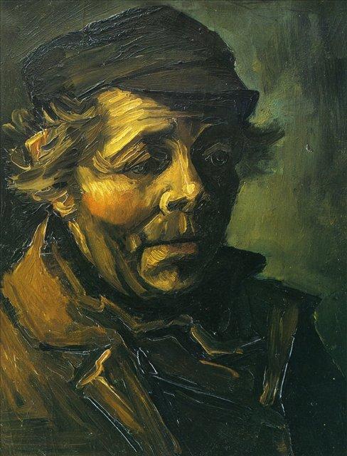 """Голова крестьянина (Штудия для картины """"Едоки картофеля"""") [ картина - портрет ] :: Ван Гог, описание картины - Van Gogh (Ван Гог) фото"""