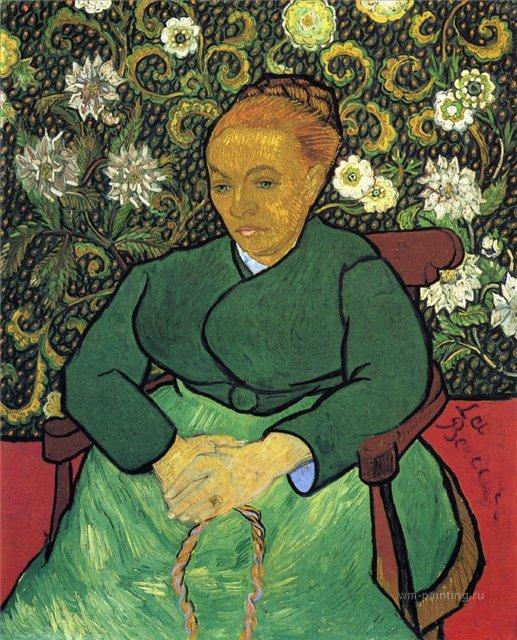 Портрет Мадам Августин Рулен :: Ван Гог, описание картины  - Van Gogh (Ван Гог) фото