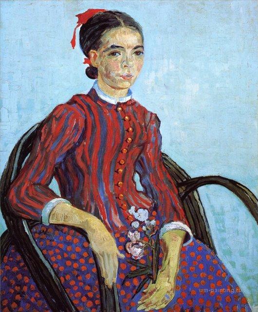 портрет Мусме (Японочка) :: Ван Гог, описание картины - Van Gogh фото