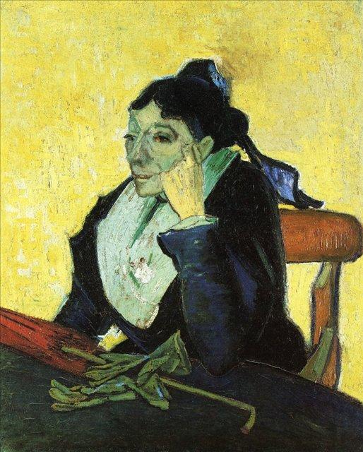 Арлезианка: Мадам Жину с перчатками и зонтиком :: Ван Гог, описание картины  - Van Gogh (Ван Гог) фото