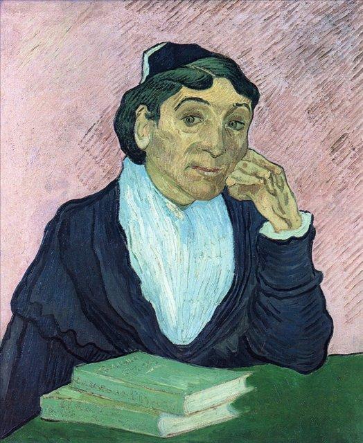 Арлезианка, портрет мадам Жину[ картина - портрет ] :: Ван Гог, описание картины - Van Gogh (Ван Гог) фото
