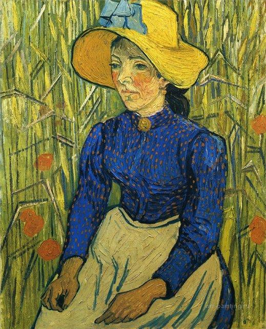 Молодая крестьянка в соломенной шляпе:: Ван Гог, описание картины - Van Gogh фото