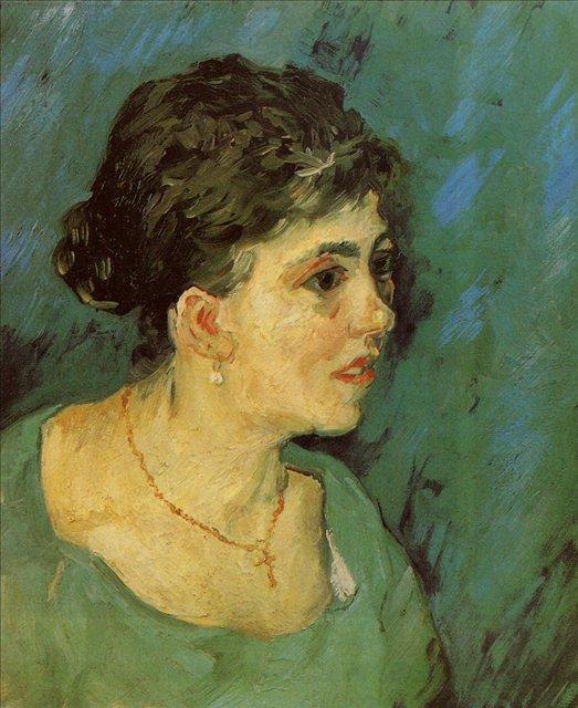 Портрет женщины в голубом [ картина - портрет ] :: Ван Гог, описание картины - Van Gogh фото