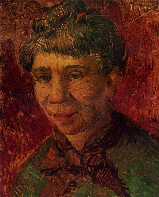 Портрет женщины [ картина - портрет ] :: Ван Гог, описание картины - Van Gogh (Ван Гог) фото