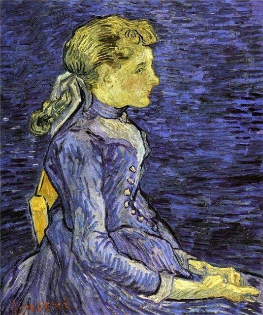 Портрет Аделины Раву [ картина - портрет ] :: Ван Гог, описание картины - Van Gogh фото