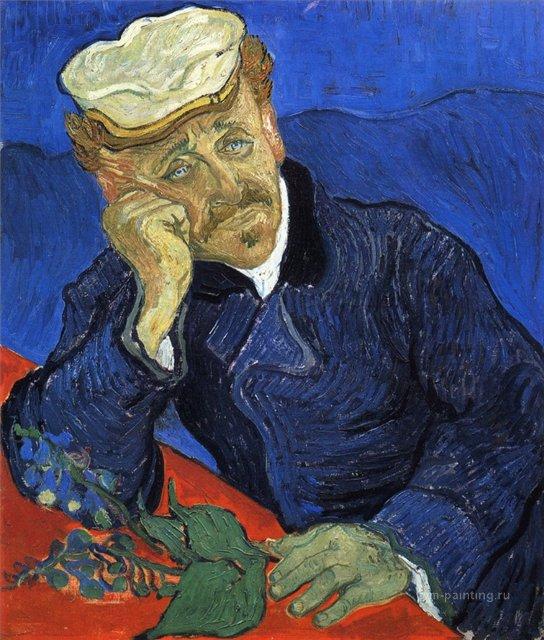 Портрет доктора Гаше :: Ван Гог, описание картины - Van Gogh фото