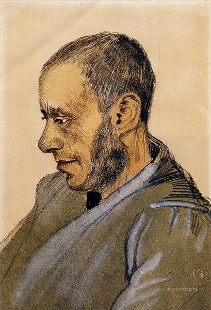 Портрет книготорговца Блока [ картина - портрет ] :: Ван Гог, описание картины - Van Gogh фото
