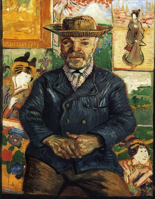 Портрет папаши Танги [ картина - портрет ] :: Ван Гог, описание картины - Van Gogh (Ван Гог) фото