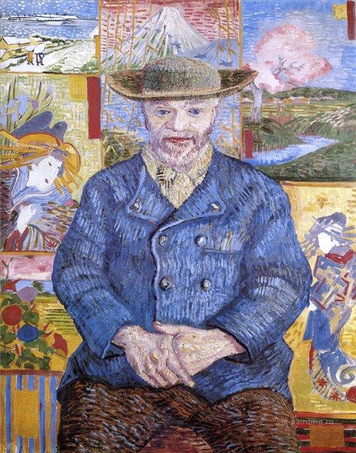 Портрет Пере Танги [ картина - портрет ] :: Ван Гог, описание картины - Van Gogh фото