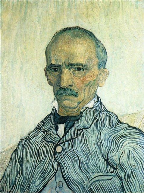 Портрет Трабю, старшего надзирателя лечебницы Сен-Поль [ картина - портрет ] :: Ван Гог, описание картины - Van Gogh фото