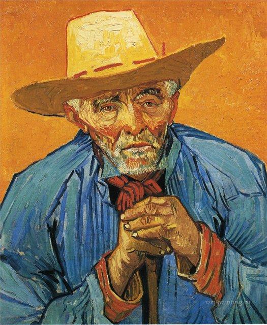 Портрет старого крестьянина Патьенса Эскалье   [ картина - портрет ] :: Ван Гог, описание картины - Van Gogh фото