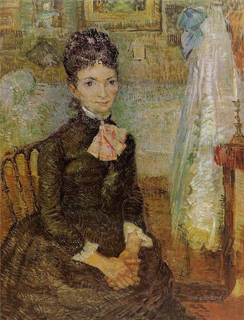 Женщина сидящая у колыбели [ картина - портрет ] :: Ван Гог, описание картины - Van Gogh фото