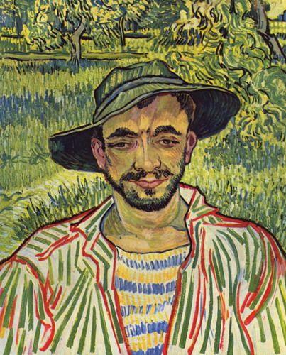 Молодой крестьянин [ картина - портрет ] :: Ван Гог, описание картины - Van Gogh фото