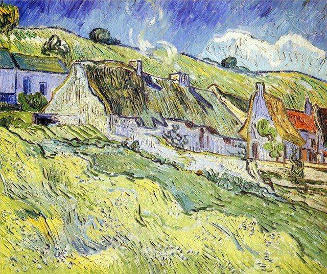 пейзаж Сельские дома в Овер :: Ван Гог, описание картины  - Van Gogh фото