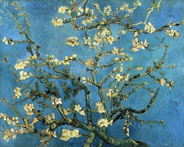 Ветви цветущего миндаля [ картина - последние работы ] :: Ван Гог, описание картины - Van Gogh фото