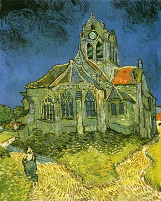 Церковь:: Ван Гог, описание картины, описание картины  - Van Gogh (Ван Гог) фото