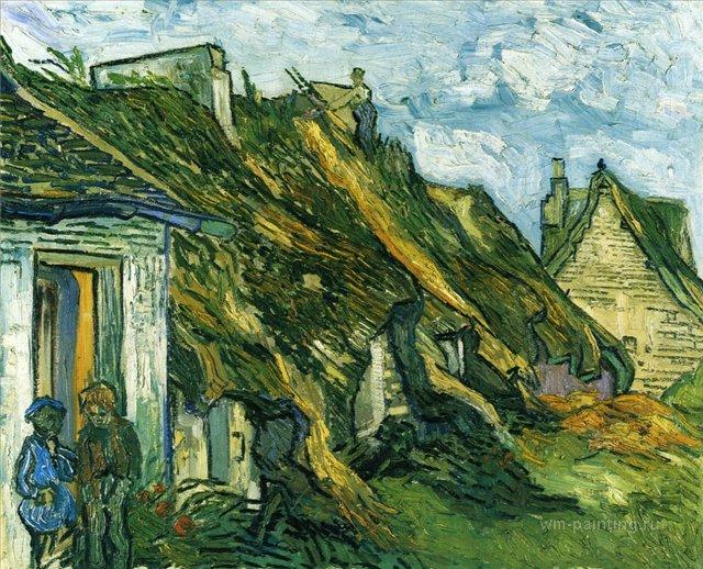 Старые сельские дома[ картина - последние работы ] :: Ван Гог, описание картины - Van Gogh фото