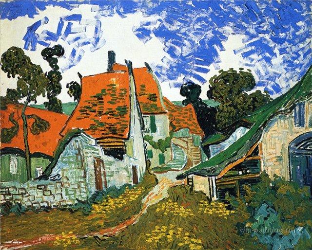 Деревенская улица в Овер [ картина - последние работы ] :: Ван Гог, описание картины  - Van Gogh (Ван Гог) фото