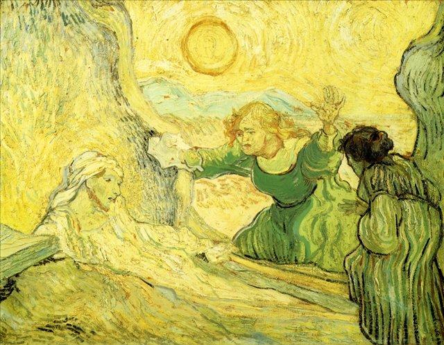 Воскрешение Лазаря (подражание Рембранту) [ картина - последние работы ] :: Ван Гог, описание картины - Van Gogh фото