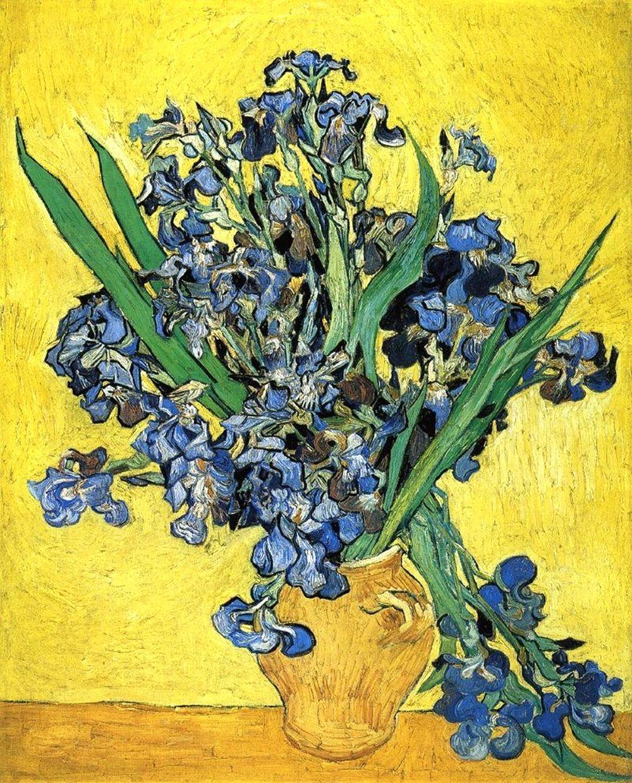 Натюрморт с ирисами [ картина - последние работы ] :: Ван Гог, описание картины - Van Gogh фото