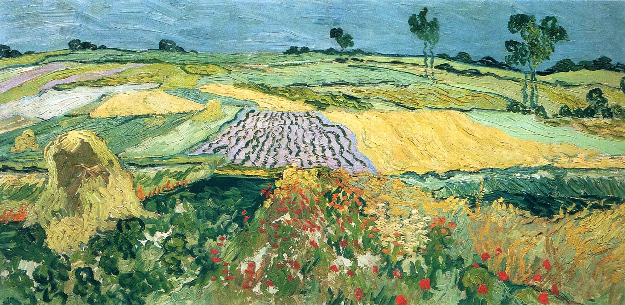 Пшеничные поля, равнина Овер :: Ван Гог, описание картины  - Van Gogh фото