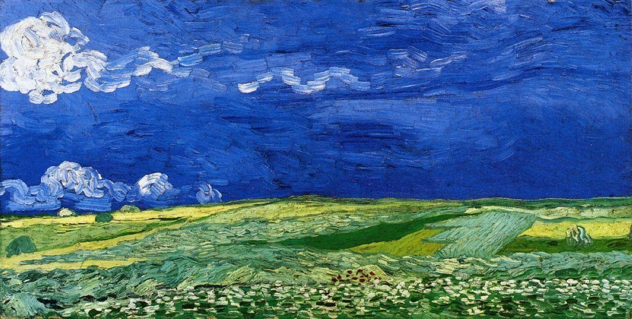 Пшеничное поле под облачным небом[ картина - последние работы ] :: Ван Гог, описание картины - Van Gogh фото