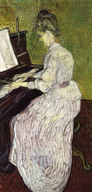 Маргарита Гаше за пианино :: Ван Гог, описание картины  - Van Gogh (Ван Гог) фото