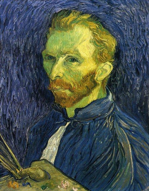 Автопортрет с палитрой :: Ван Гог, описание картины  - Van Gogh фото