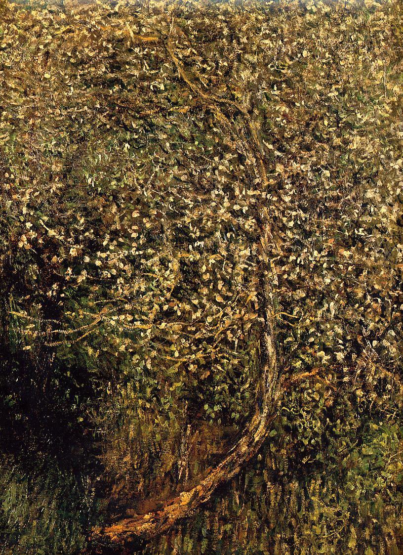 пейзаж < Цветущие яблони у воды >:: Клод Моне, описание картины - Claude Monet фото
