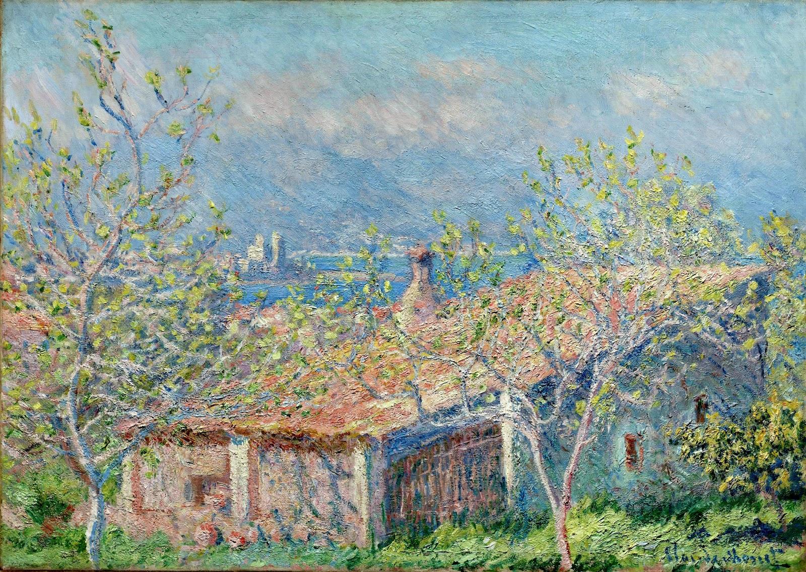 пейзаж < Дом садовника в Антибе >:: Клод Моне, описание картины - Claude Monet фото