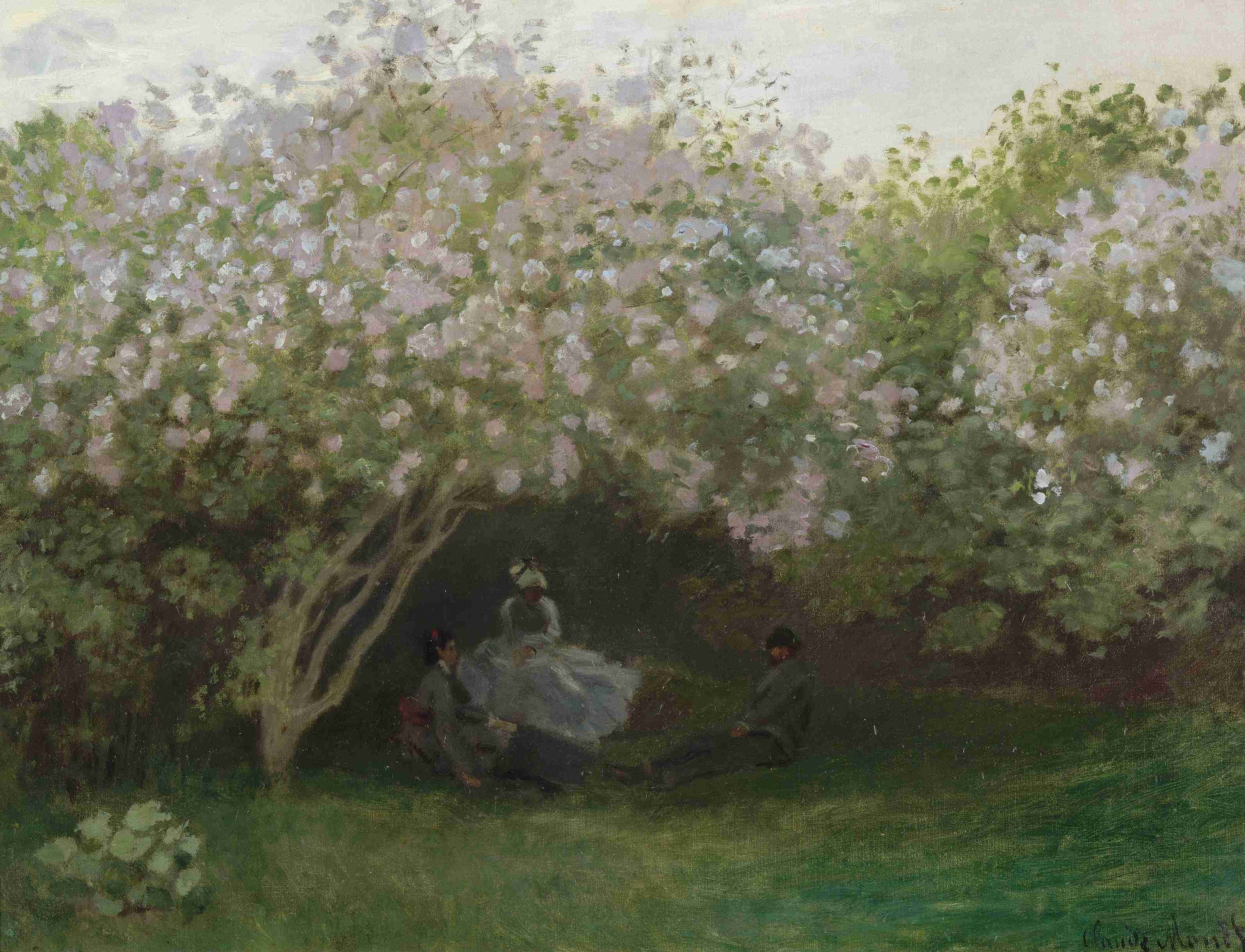 пейзаж < Сирень >:: Клод Моне, описание картины - Моне Клод (Claude Monet) фото