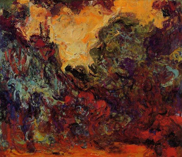 пейзаж < Дом художника, вид из розового сада >:: Клод Моне, описание картины - Claude Monet фото