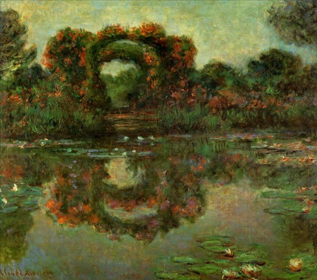 пейзаж Арка в цветах, Живерни:: Клод Моне, описание картины - Моне Клод (Claude Monet) фото
