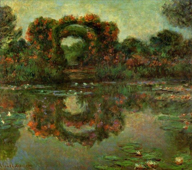 пейзаж Арка в цветах, Живерни:: Клод Моне, описание картины - Claude Monet фото