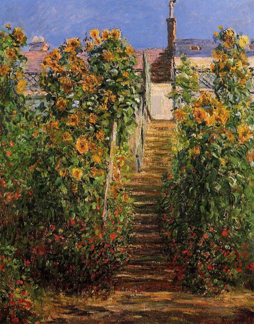 пейзаж < Ступеньки, Витёй >:: Клод Моне, описание картины - Claude Monet фото